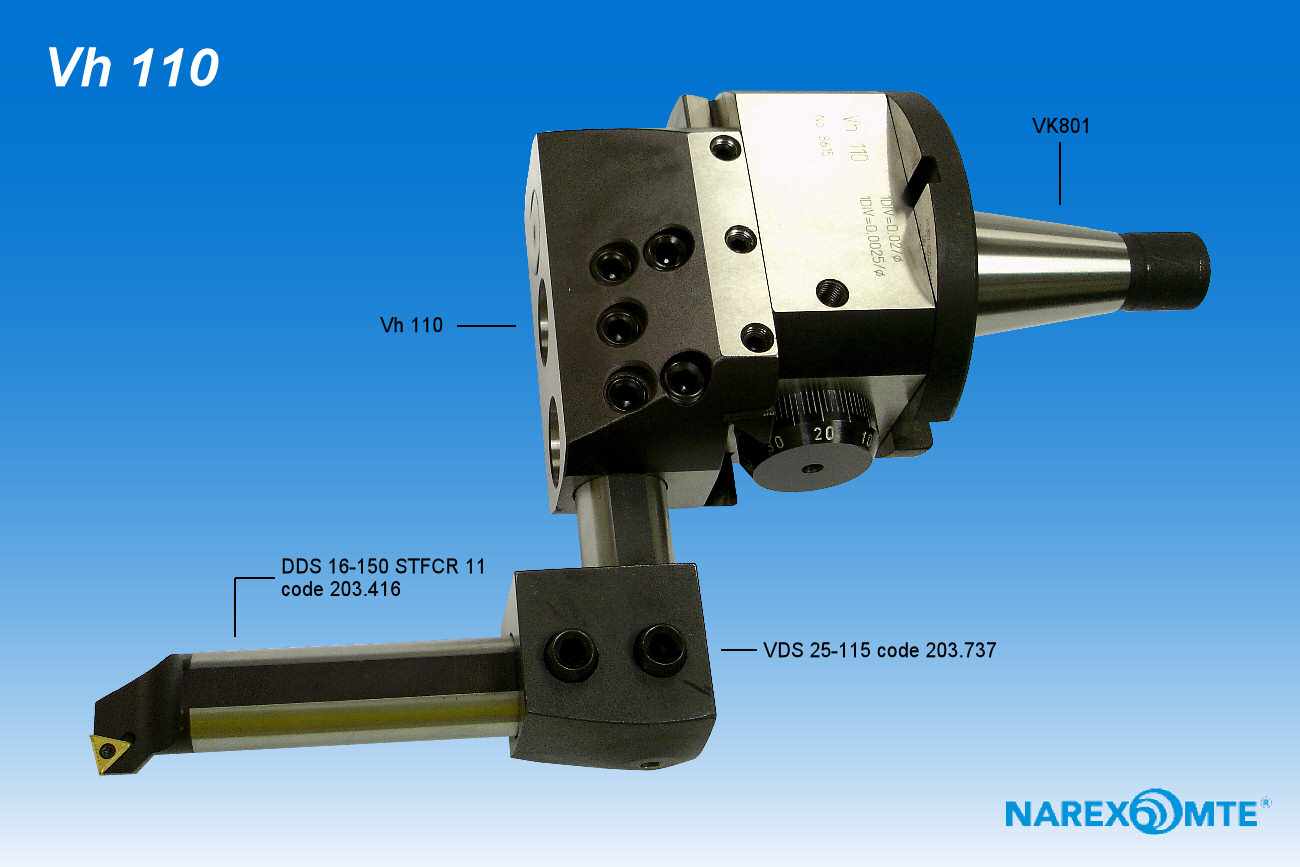 how to use a narex boring head